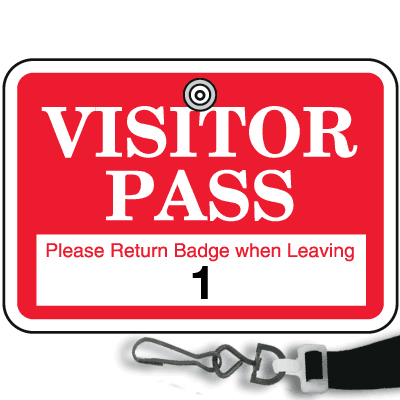 image of a visitor s ID badge