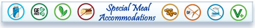 image of special meal accommodations icon