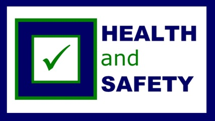 image of the words Health and Safety with a check mark